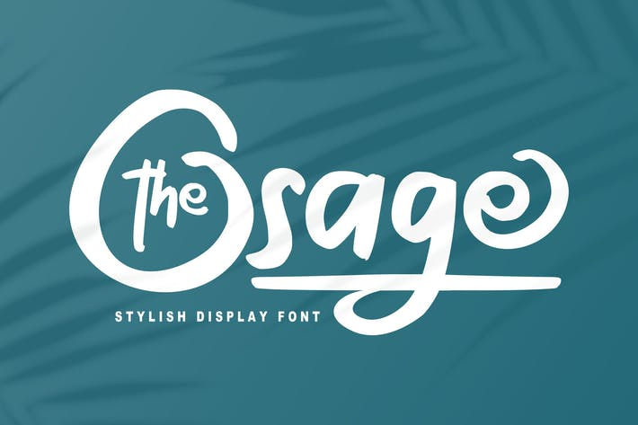 Thumbnail for The Osage | Stylish Display Font