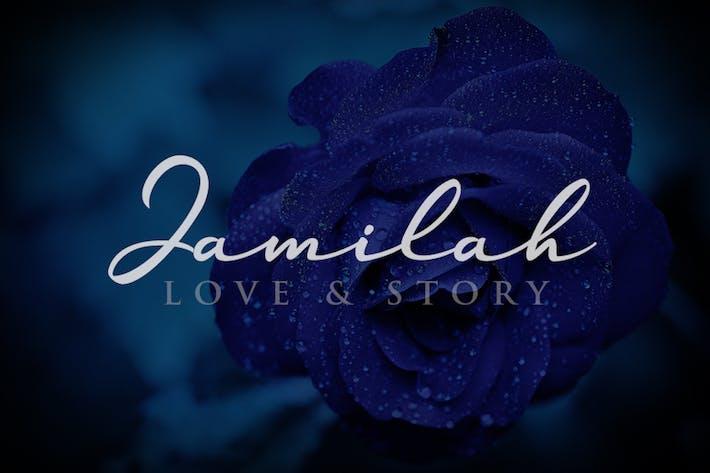 Jamilah - Fuente escrita a mano de la historia de amor