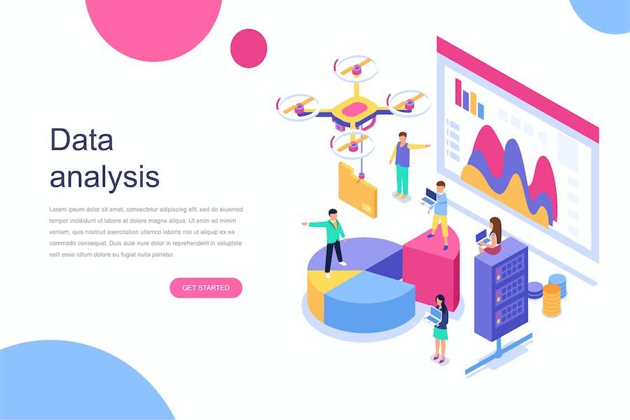 Analyse des données Concept isométrique