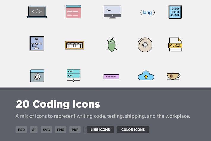 Thumbnail for 20 Иконки кодирования