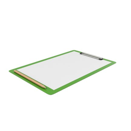 Green Notepad and Pencil