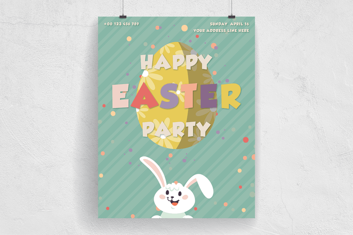 Thumbnail for Happy Easter Party Flyer