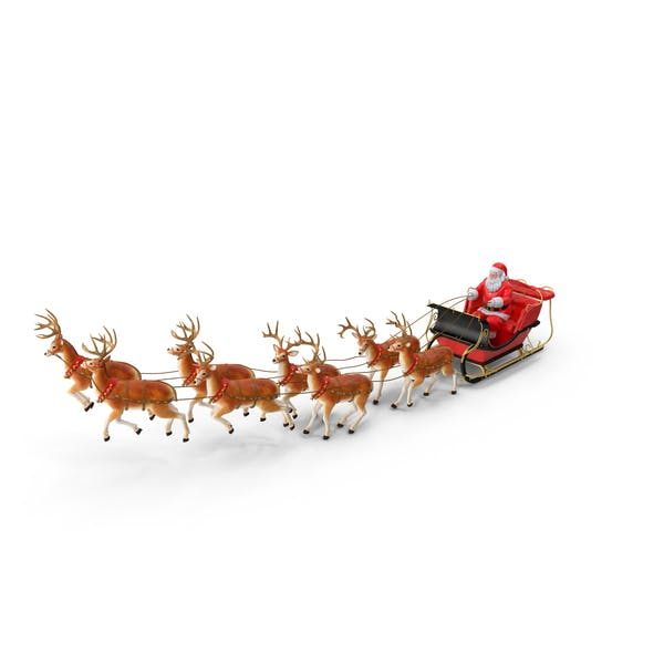 Thumbnail for Sleigh with Reindeer