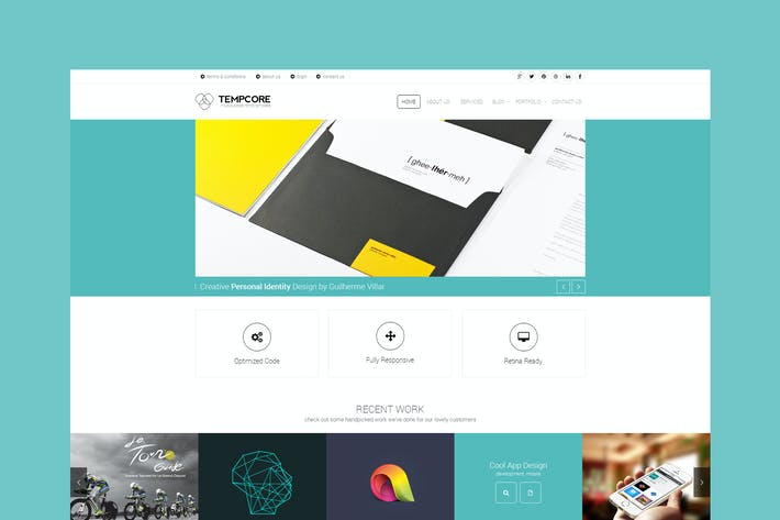 Thumbnail for Tempcore - Multipurpose PSD Template
