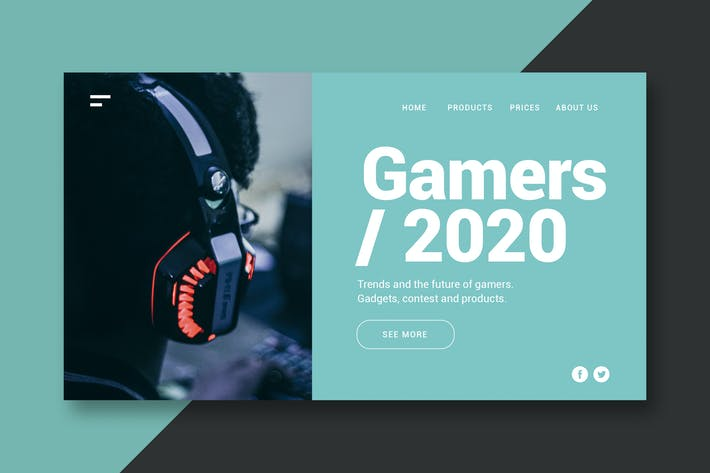 Thumbnail for Gamers - Landing Page