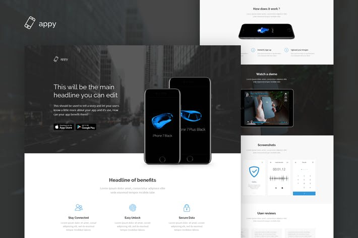 Thumbnail for Appy - App Landing Page HTML Template