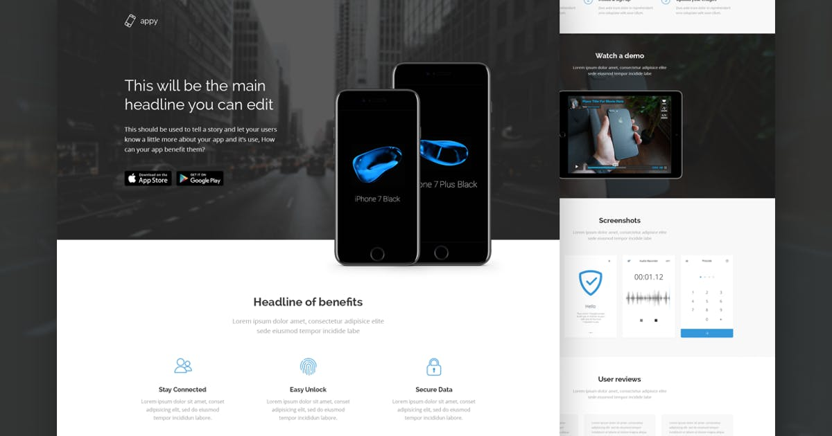 Download Appy - App Landing Page HTML Template by zytheme