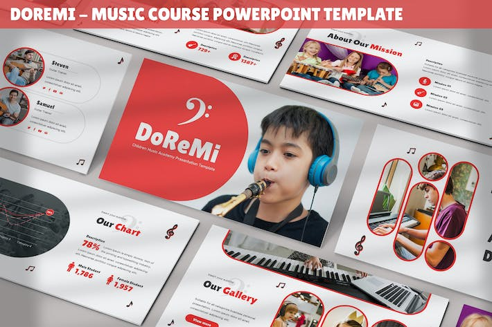 Thumbnail for Doremi - Music Course Powerpoint Template