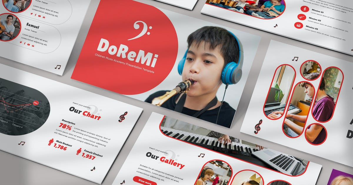 Download Doremi - Music Course Powerpoint Template by SlideFactory