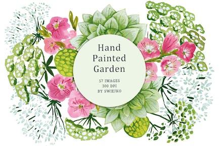 Handgemalte Garten