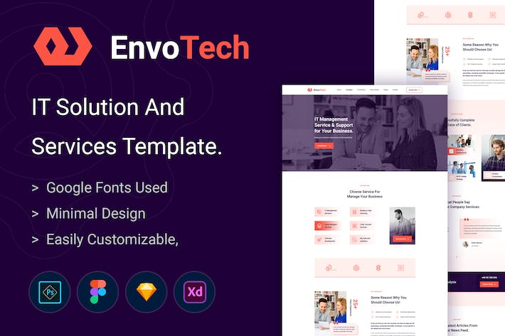 Thumbnail for EnvoTech - IT Solution and Services Template