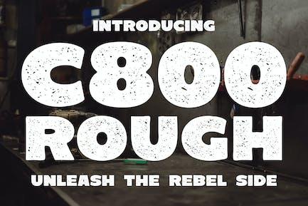 C800 Rough - Bold Sans Serif