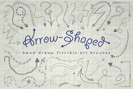 Illustrator Arrow-Shaped Art Brushes