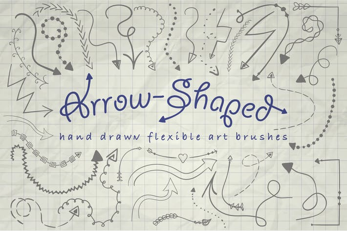 Thumbnail for Illustrator Arrow-Shaped Art Brushes