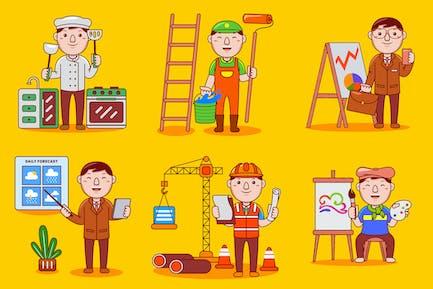 Man Profession Cartoon Vector Pack #03