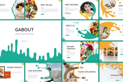 Gabout - Desserts Powerpoint Template