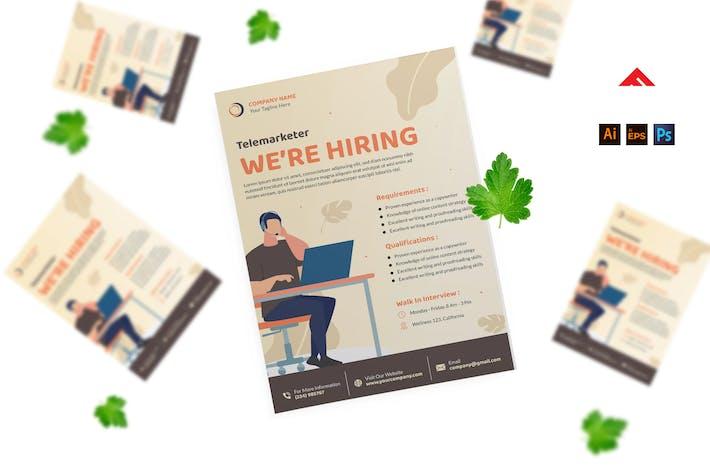 Thumbnail for Company Job Hiring Flyer Advertisement