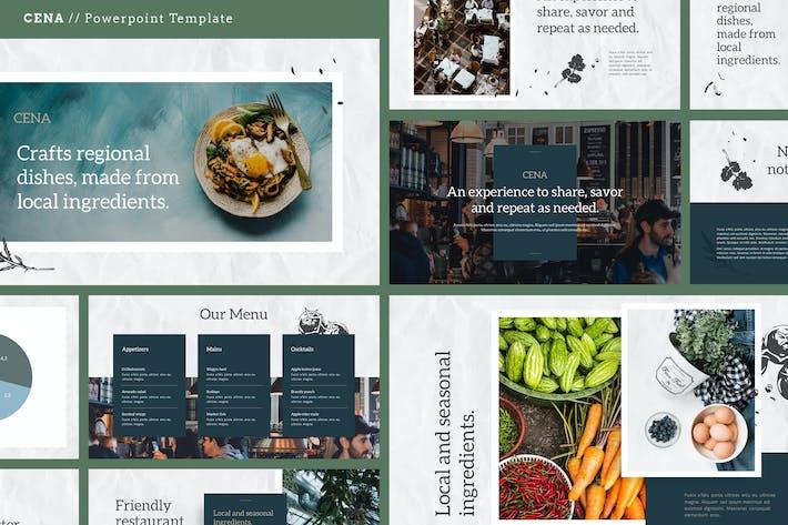 Thumbnail for CENA - Food & Culinary Theme Google Slides