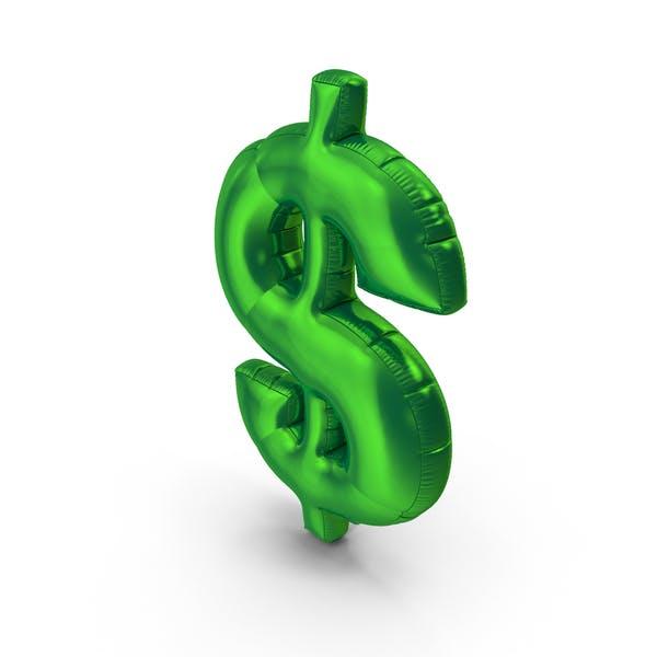 Foil Balloon Dollar Green