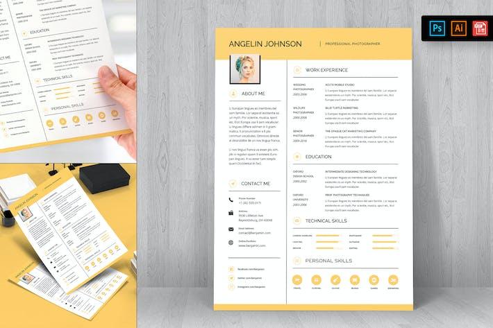 Thumbnail for Resume CV Template-23