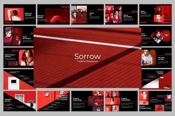 Cover Image For Sorrow Creative Powerpoint