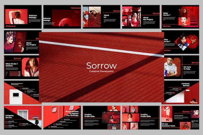 Thumbnail for Sorrow Creative Powerpoint