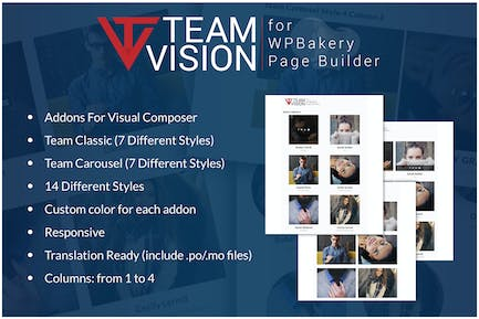 Teamvision - Team Addons for WPBakery Page Builder