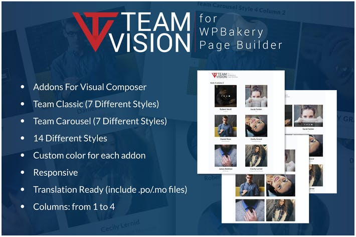 Thumbnail for Teamvision - Team Addons for WPBakery Page Builder