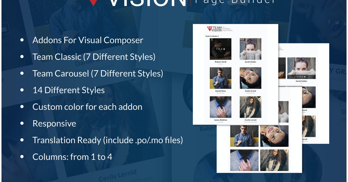 Download Teamvision - Team Addons for WPBakery Page Builder by ad-theme