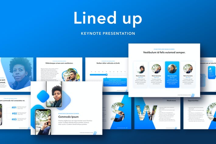 Thumbnail for Lined Up Keynote Template