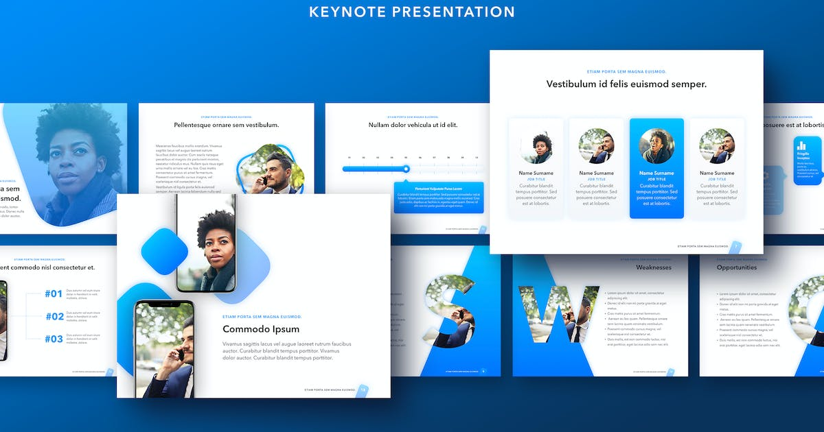 Download Lined Up Keynote Template by Jumsoft