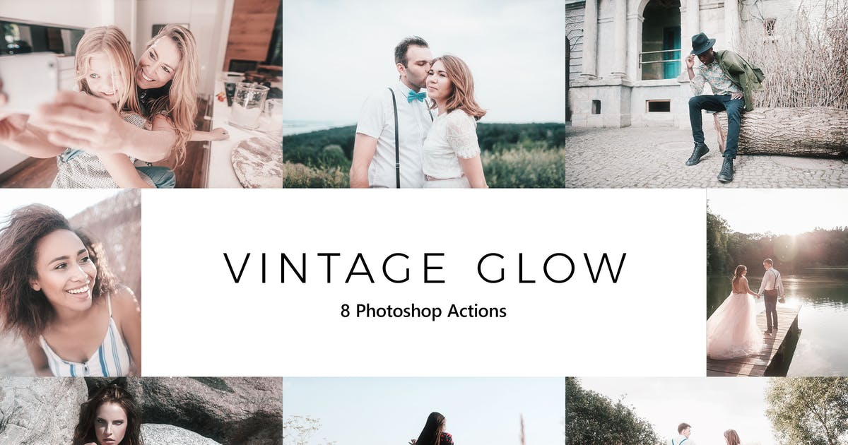 Download 20 Vintage Glow  Photoshop Actions by sparklestock