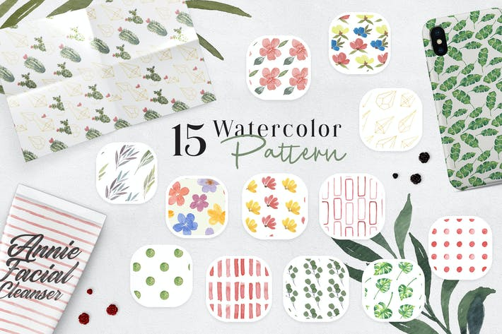 Thumbnail for Ofi 15 Watercolor Pattern