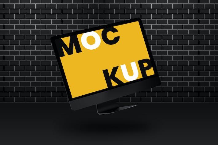 Thumbnail for Dark Desktop Mockup Template