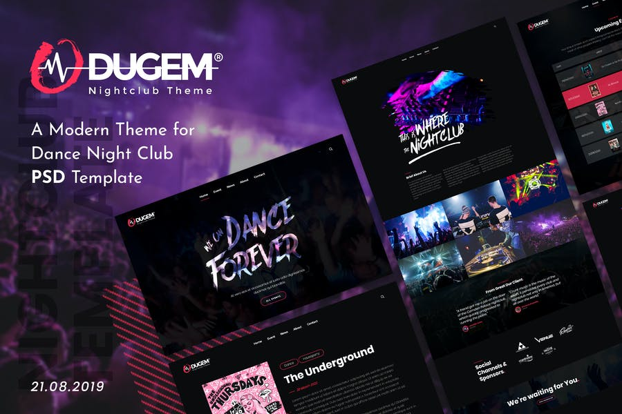 Dugem | Dance Night Club PSD Template