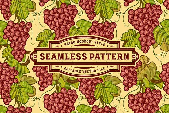 Thumbnail for Seamless Grapes Pattern