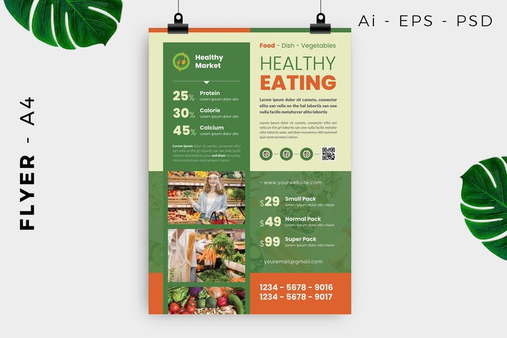 Thumbnail for Healthy Food Flyer Design