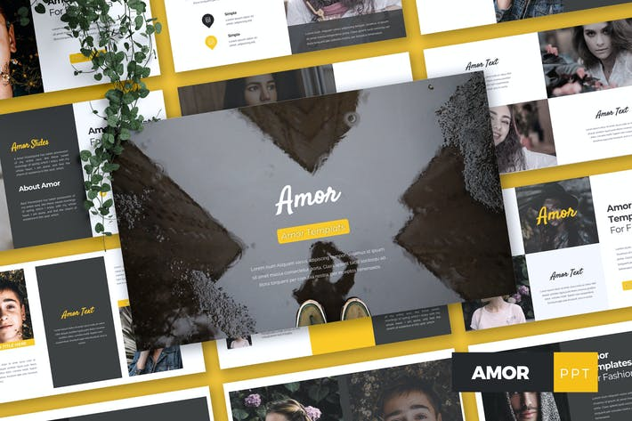 Thumbnail for AMOR - Fashion Powerpoint Template