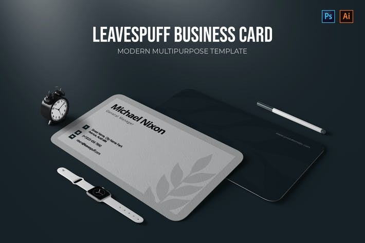 Thumbnail for Leavespuff - Business Card