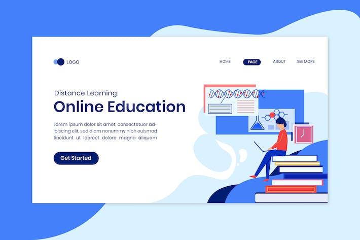 Modèle de page de destination de classe en ligne