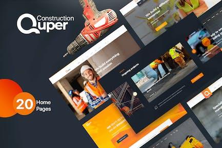 Quper - Construction HTML5 CSS3 Template