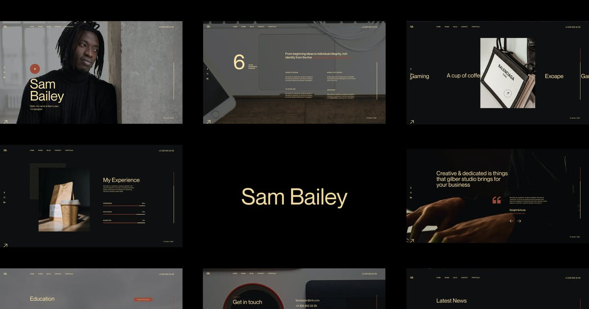 Download SamBailey - Personal CV/Resume HTML Template by paul_tf
