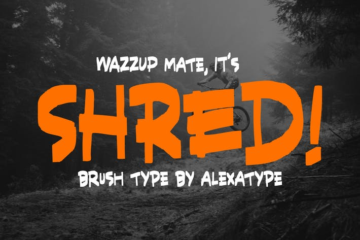 Thumbnail for SHRED! - Aggressive Brush Font