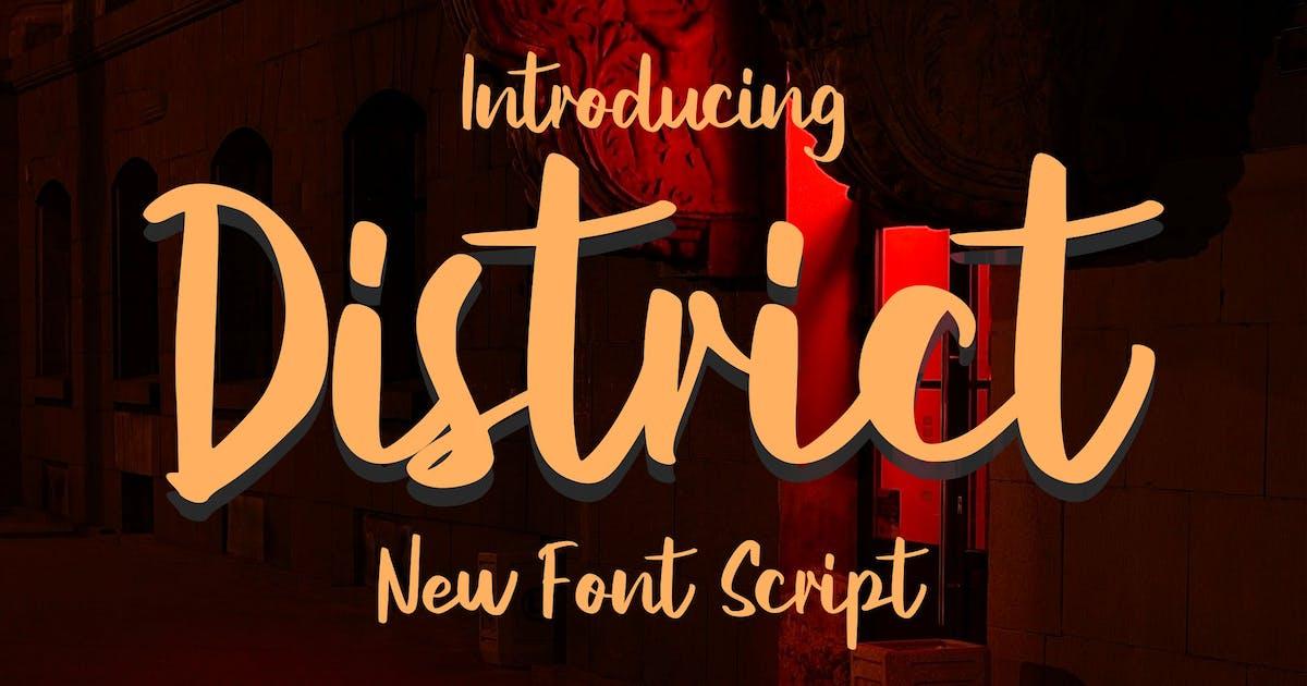 Download District New Script Font by Fannanstudio
