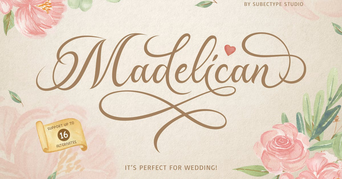 Download Madelican Calligraphy by Subectype