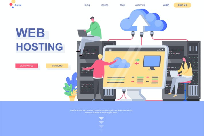 Thumbnail for Web Hosting Landing Page Template