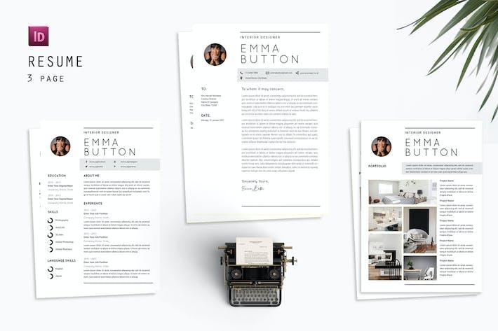 Thumbnail for Concepteur de CV Bouton Emma
