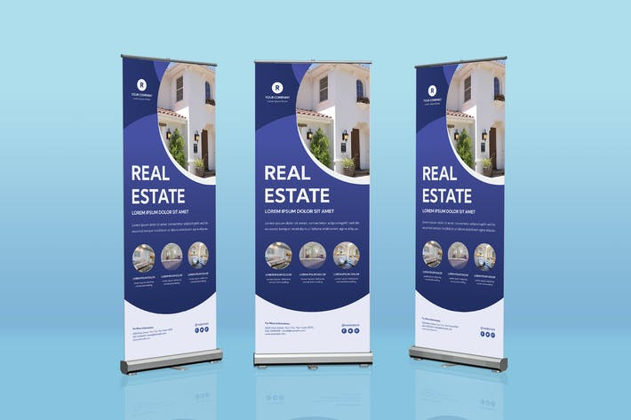 Thumbnail for Real Estate Roll Banner Template