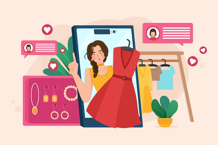 Thumbnail for Live streaming to sell fashion online by blogger