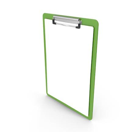 Clipboard Paper Green
